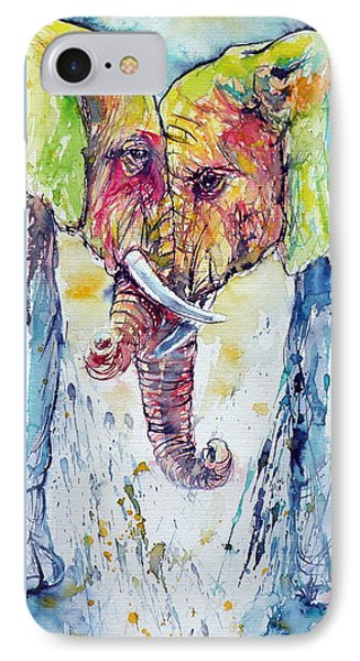 Elephants In Love IPhone Case by Kovacs Anna Brigitta