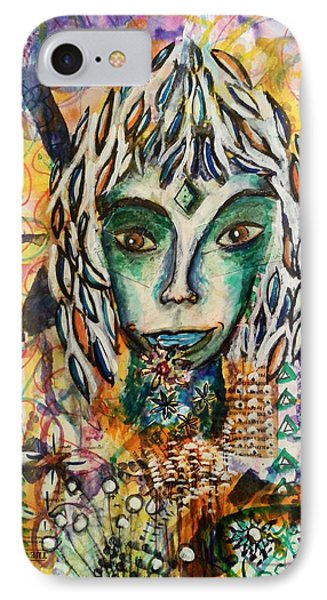 IPhone Case featuring the mixed media Elf by Mimulux patricia no No