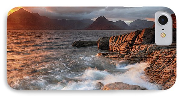 IPhone Case featuring the photograph Elgol Stormy Sunset by Grant Glendinning