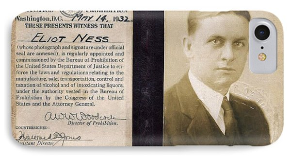 Eliot Ness - Untouchable Chicago Prohibition Agent IPhone Case by Daniel Hagerman