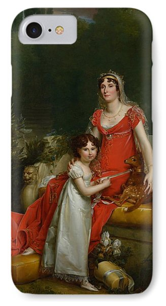 Elisa Bonaparte With Her Daugher Napoleona Baciocchi IPhone Case