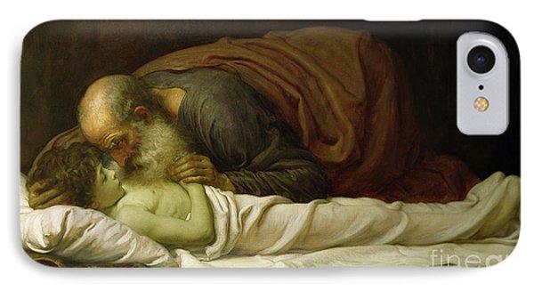Elisha Raising The Son Of The Shunamite IPhone Case by Frederic Leighton