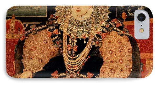 Elizabeth I Armada Portrait IPhone Case by English School