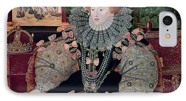 Elizabeth I Armada Portrait IPhone Case by George Gower