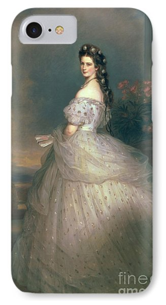 Elizabeth Of Bavaria IPhone Case by Franz Xavier Winterhalter