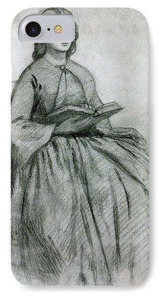 Elizabeth Siddall In A Chair Phone Case by Gabriel Rossetti