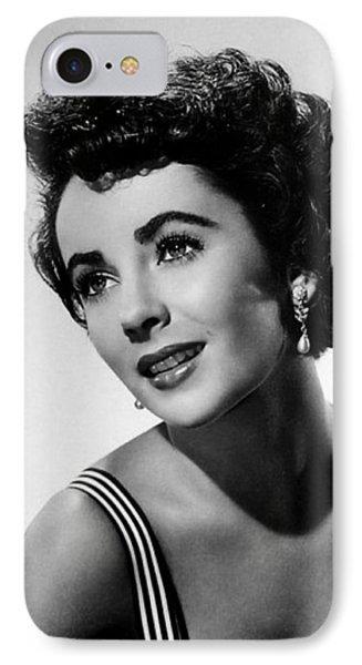 Elizabeth Taylor 1950 IPhone Case by Mountain Dreams