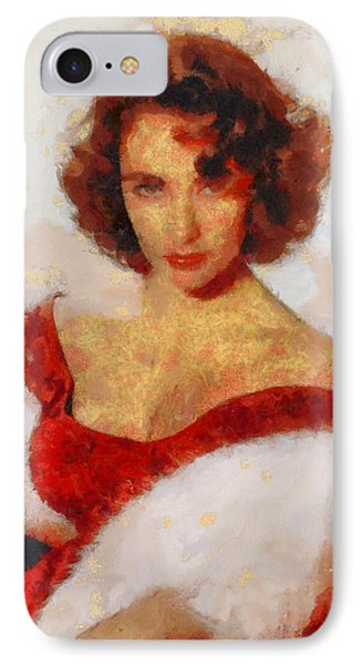 Elizabeth Taylor Actress IPhone 7 Case by Esoterica Art Agency