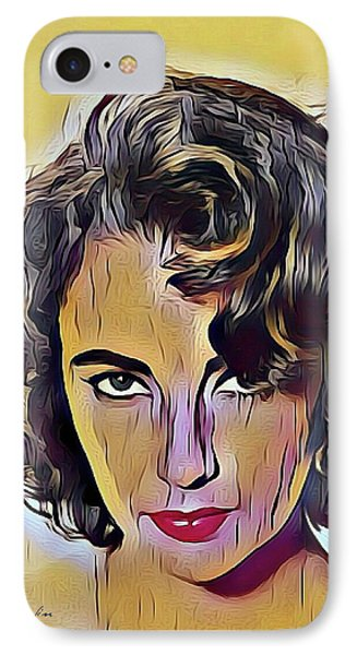 elizabeth taylor British-American actress IPhone Case