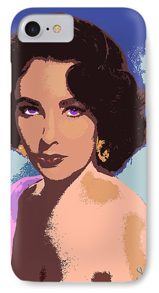 IPhone Case featuring the painting Elizabeth Taylor by John Keaton