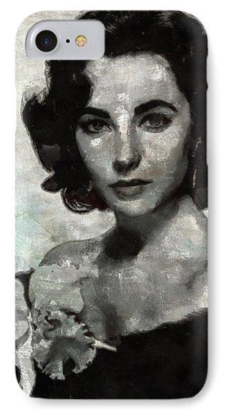 Elizabeth Taylor IPhone 7 Case by Mary Bassett