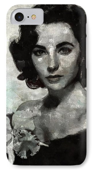 Elizabeth Taylor IPhone Case by Mary Bassett