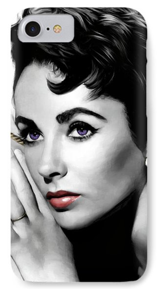 Elizabeth Taylor Portrait Phone Case by Gabriel T Toro