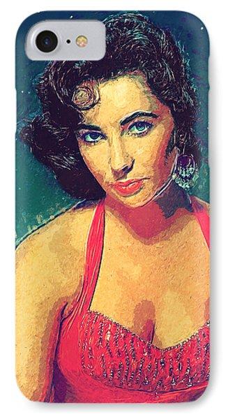 Elizabeth Taylor IPhone Case by Taylan Apukovska