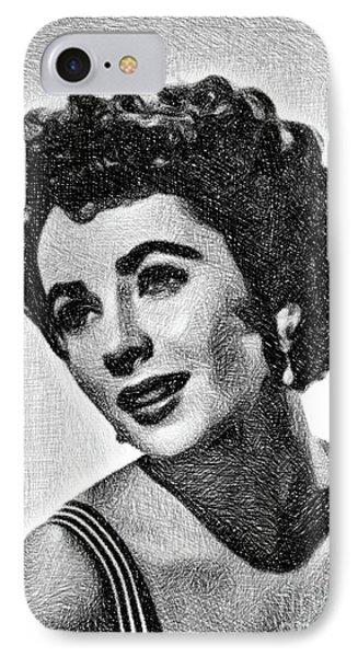 Elizabeth Taylor iPhone 7 Case - Elizabeth Taylor, Vintage Actress By Js by John Springfield