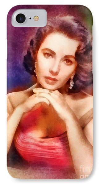 Elizabeth Taylor, Vintage Hollywood Legend IPhone 7 Case by Frank Falcon
