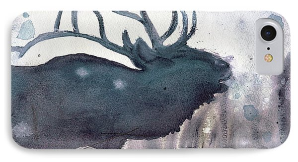 IPhone Case featuring the painting Elk by Dawn Derman