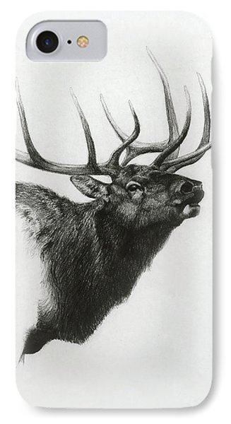 Elk IPhone Case by Heather Theurer