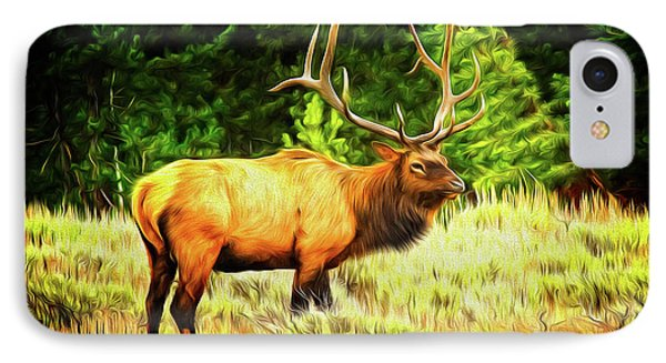 Elk Impression IPhone Case by Todd Bielby