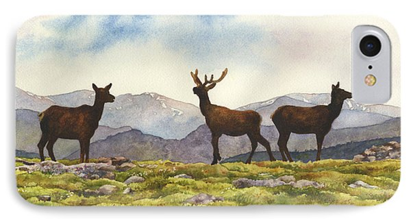 IPhone Case featuring the painting Elk In The Evening by Anne Gifford