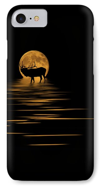 Elk In The Moonlight IPhone Case by Shane Bechler