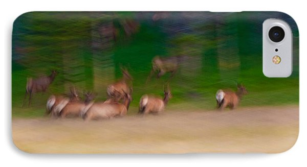 Elk On The Run IPhone Case by Sebastian Musial
