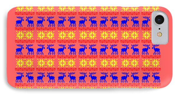 Elk Pattern Changeable Background  IPhone Case by Sebastien Coell