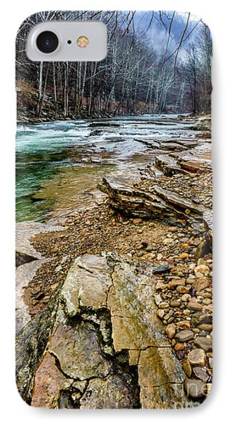 IPhone Case featuring the photograph Elk River In The Rain by Thomas R Fletcher