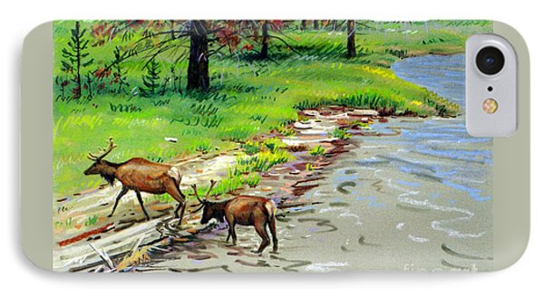 Elks Crossing IPhone Case by Donald Maier