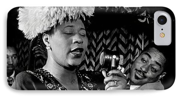 Ella Fitzgerald Dizzy Gillespie And Ray Brown William Gottlieb Photo Nyc 1947-2015 IPhone Case by David Lee Guss