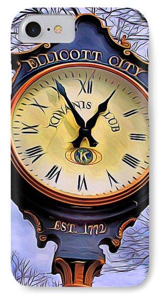 Ellicott City Clock Phone Case by Stephen Younts