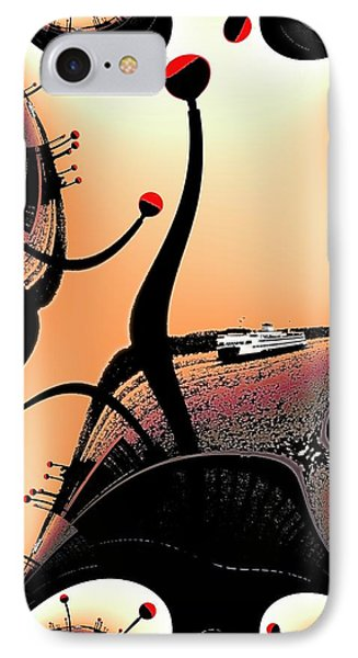 Elliott Bay Ferry Fractal IPhone Case by Tim Allen