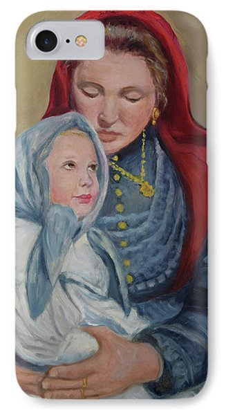 IPhone Case featuring the painting Ellis Island Madonna by Sandra Nardone
