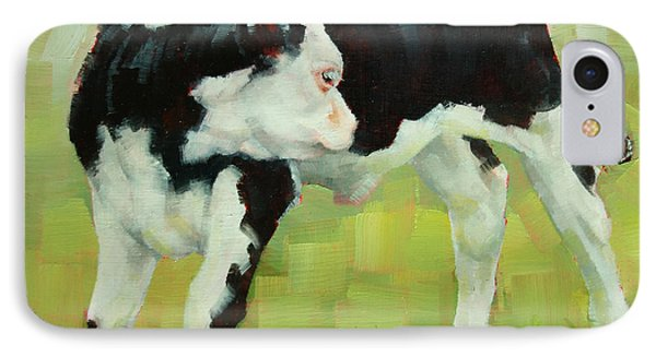 Elly The Calf And Friend IPhone Case by Margaret Stockdale