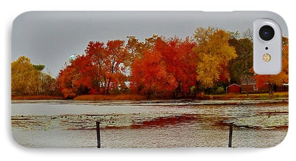 IPhone Case featuring the photograph Elmer Lake In Autumn by Ed Sweeney