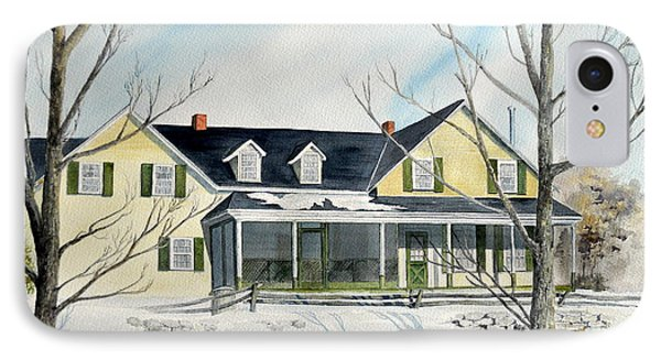 IPhone Case featuring the painting Elmridge Farm House by Jackie Mueller-Jones