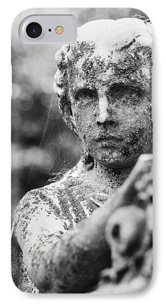 Elmwood Cemetery - Cassie Hill Bw IPhone Case by Jon Woodhams