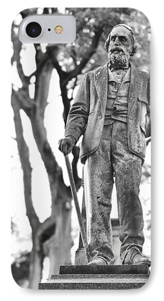 Elmwood Cemetery - Man With Cane IPhone Case