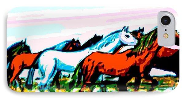 Elongated Art Deco Equestrian Pusuit IPhone Case by Larry E Lamb