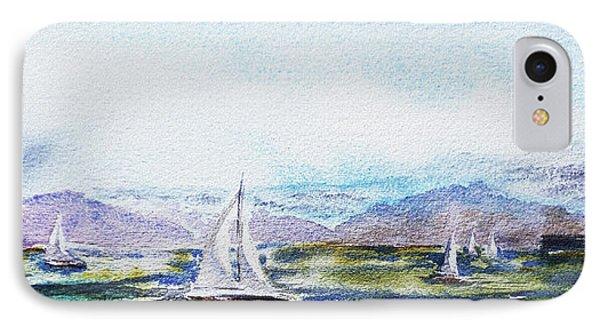 Elongated Seascape Painting IPhone Case by Irina Sztukowski