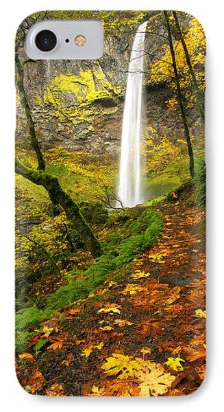 Elowah Autumn Trail Phone Case by Mike  Dawson
