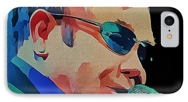 Elton John Blue Eyes Portrait 2 IPhone Case by Yury Malkov