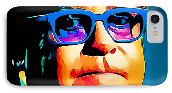 Elton John Blue Eyes Portrait IPhone Case by Yury Malkov