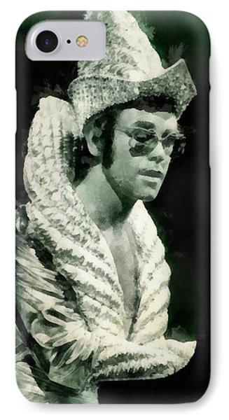 Elton John iPhone 7 Case - Elton John By John Springfield by John Springfield