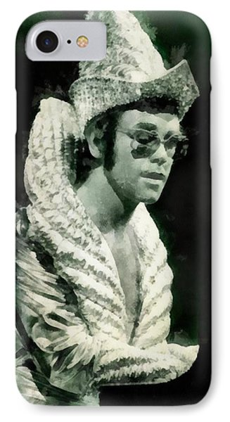 Elton John By John Springfield IPhone Case by John Springfield
