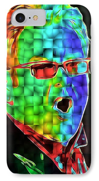 Elton John In Cubes 2 IPhone Case by Yury Malkov