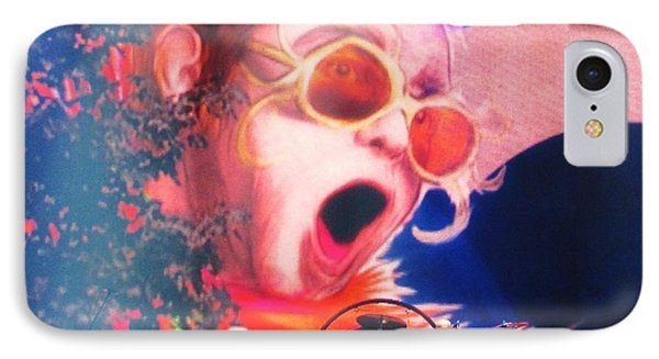 Elton John Then And Now IPhone Case by Allen Meyer