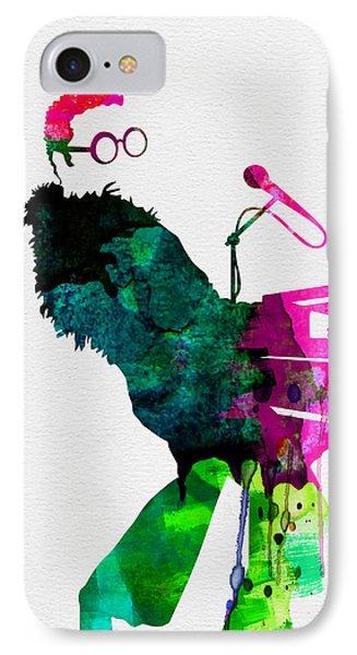 Elton John iPhone 7 Case - Elton Watercolor by Naxart Studio