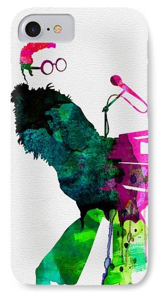 Musicians iPhone 7 Case - Elton Watercolor by Naxart Studio