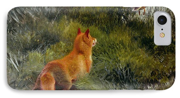 Eluding The Fox IPhone Case by Bruno Andreas Liljefors